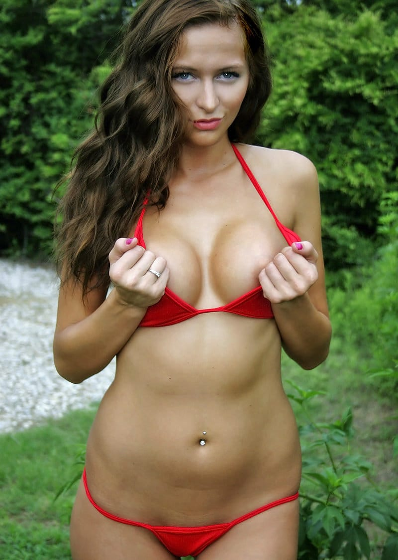london-hart-wearing-tiny-red-bikini