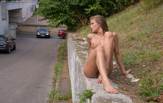 completely naked public