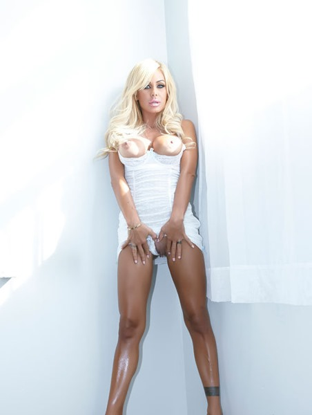 shauna sand in sexy white dress