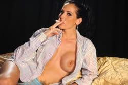 smoking_models_videos_blue_robinson_smokes_in_man's_shirt