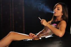 smoking_models_videos_kat_smoking_in_a_little_dress